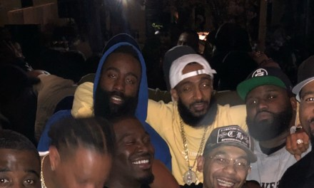 James Harden and Kyrie Irving Partying at 40/40 Club for Dave East's Birthday