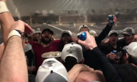 "The Caps Sang ""We Are The Champions"" in the Locker Room"