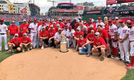 Alex Ovechkin Threw Out Two First Pitches at the Nationals Game