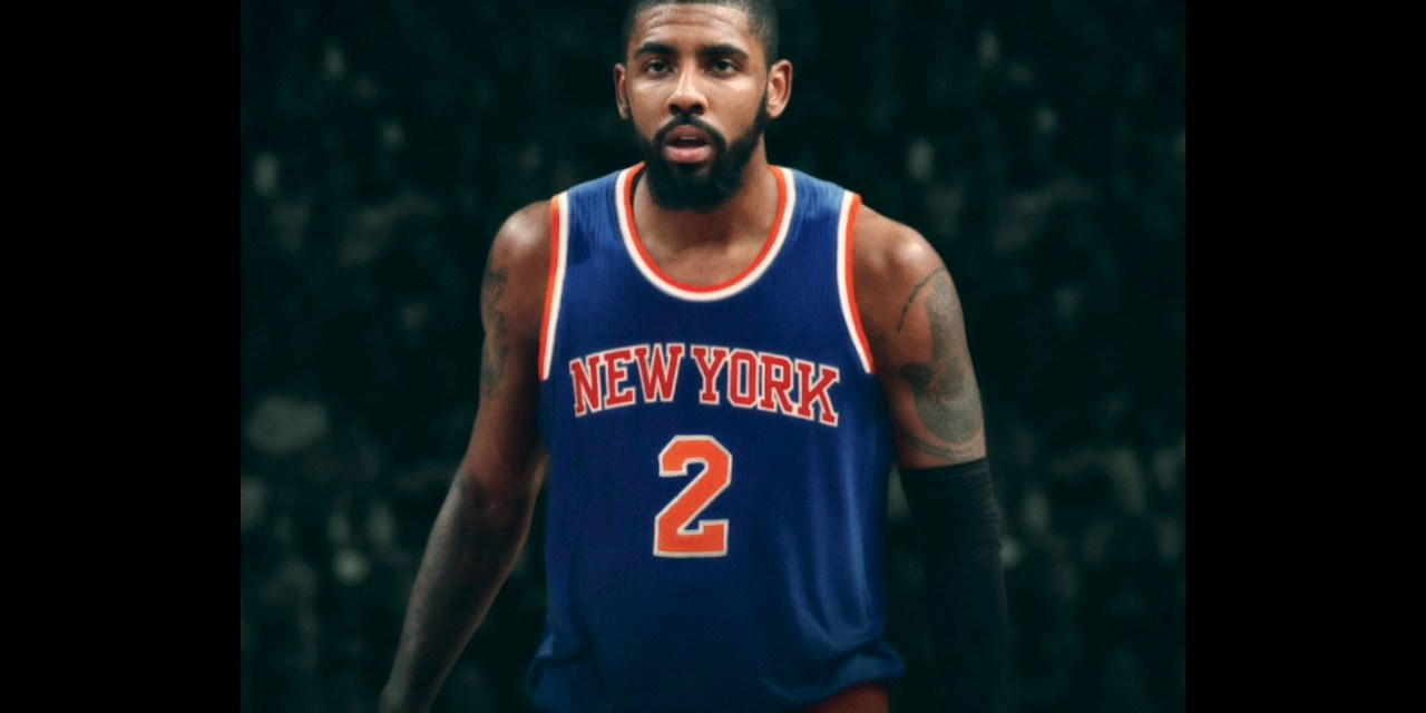 buy popular 4221d 56325 Fan Tries to Recruit Kyrie Irving to the Knicks at Party ...