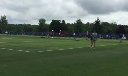 Andrew Luck Threw Passes at Colts Minicamp