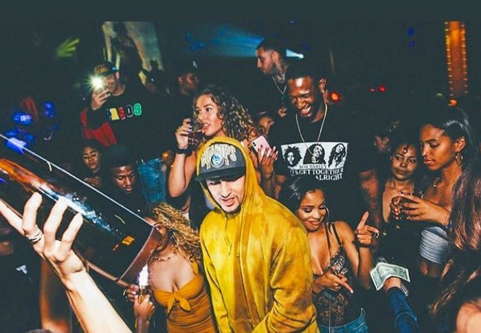 Hoodie Klay Partying at Another Championship Celebration