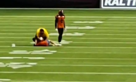 Fan Learns the Hard Way Not to Run on the Field During a BC Lions Game