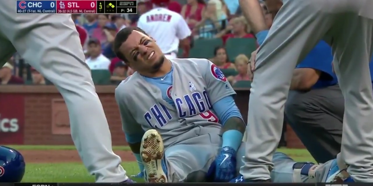 Javy Baez Took a Fastball to the Funny Bone