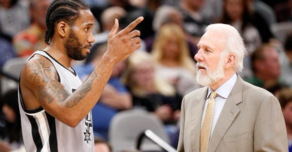 Gregg Popovich Meets Kawhi Leonard in California