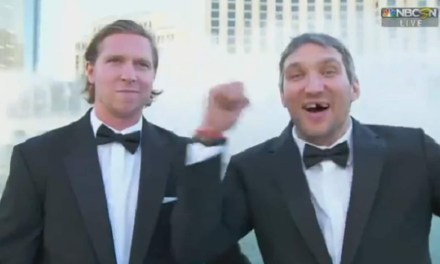 Alex Ovechkin and Nicklas Backstrom get Wet at the Bellagio