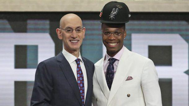 Spurs Draft Pick's Hair Leads to a Funny Picture with the NBA Commissioner