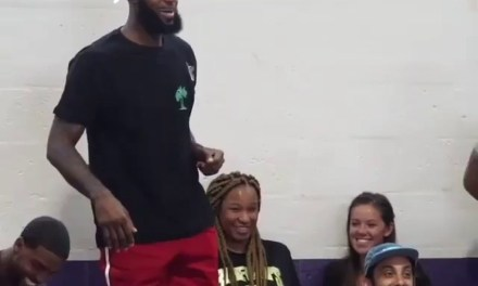 LeBron and Savannah at Game