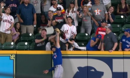 Randal Grichuk Took a Potential Game Tying Out of a Fan's Glove in the Bottom of the 9th