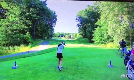 Golfer Beatriz Recari Whiffed on a Tee Shot