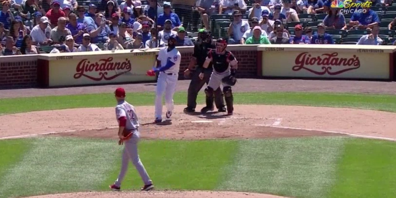 Jason Heyward Forced to Leave Game After Fouling a Ball Off His Groin