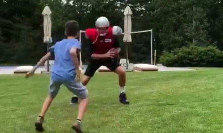 Tom Brady Training With His Son