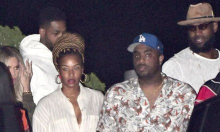 LeBron, Tristan, Khloe and Savannah Double Date Night at Nobu