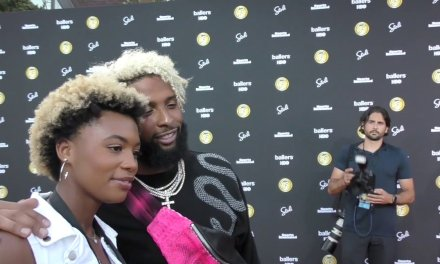 Odell Beckham Jr. Shows off Latest Fashion Accessory on Red Carpet