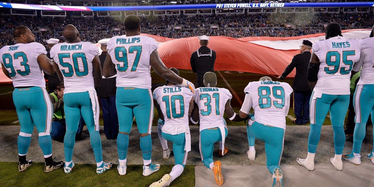 Miami Dolphins Considering Suspending Players up to Four Games for National Anthem Protests