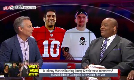 Colin Cowherd Thinks Johnny Manziel Ended his NFL Career with Comments about Jimmy Garoppolo