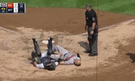 Orioles Catcher Caleb Joseph Makes a Hilarious Attempt to Avoid a Tag