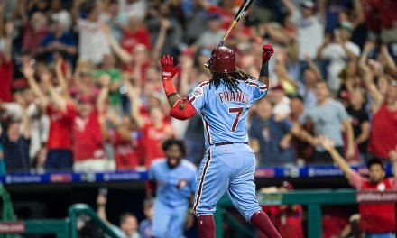 Maikel Franco Hit a Walk Off Home Run and then Bat Flipped into the Solar System