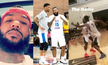 The Game Gets Into Fight With Own Teammate at the Drew League