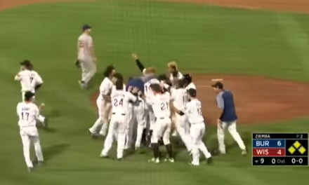 Minor League Baseball Game Ends with a Three Run Walk Off Dropped Third Strike