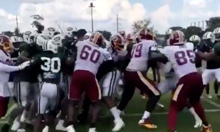 A Brawl Broke Out at the Redskins and Jets Joint Practice