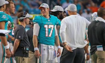 Ryan Tannehill Kicked Rookie RB Kalen Ballage out of Dolphins' Huddle