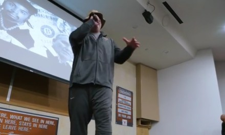 Texas Offensive Line Coach Grabbed a Mic and Rapped Some Eric B. & Rakim