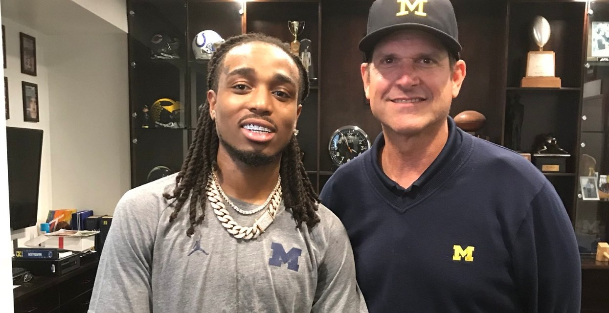 Jim Harbaugh Hanging Out with Quavo Before a Migos Concert is the Best