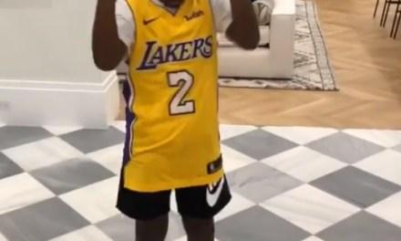 LeBron James' Son Bryce Wearing a Lonzo Ball Jersey?