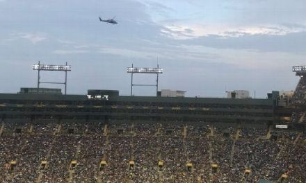 Helicopters Over Lambeau Field Surprised the Packers