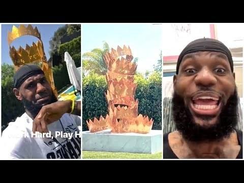 LeBron James Showcases his Backyard King Statue