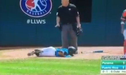 Little Leaguer Attempting to Lay Down a Bunt Took a Ball to the Groin
