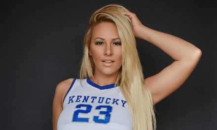 Bikini Model Kindly Myers is Featured on the Kentucky Hockey Poster