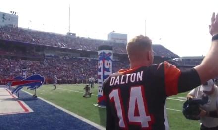 Bills Fans Gave Andy Dalton a Standing Ovation