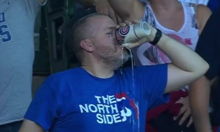 Cubs Fan Catches Foul Ball in His Beer and Then Like a Hero He Chugged the Beer