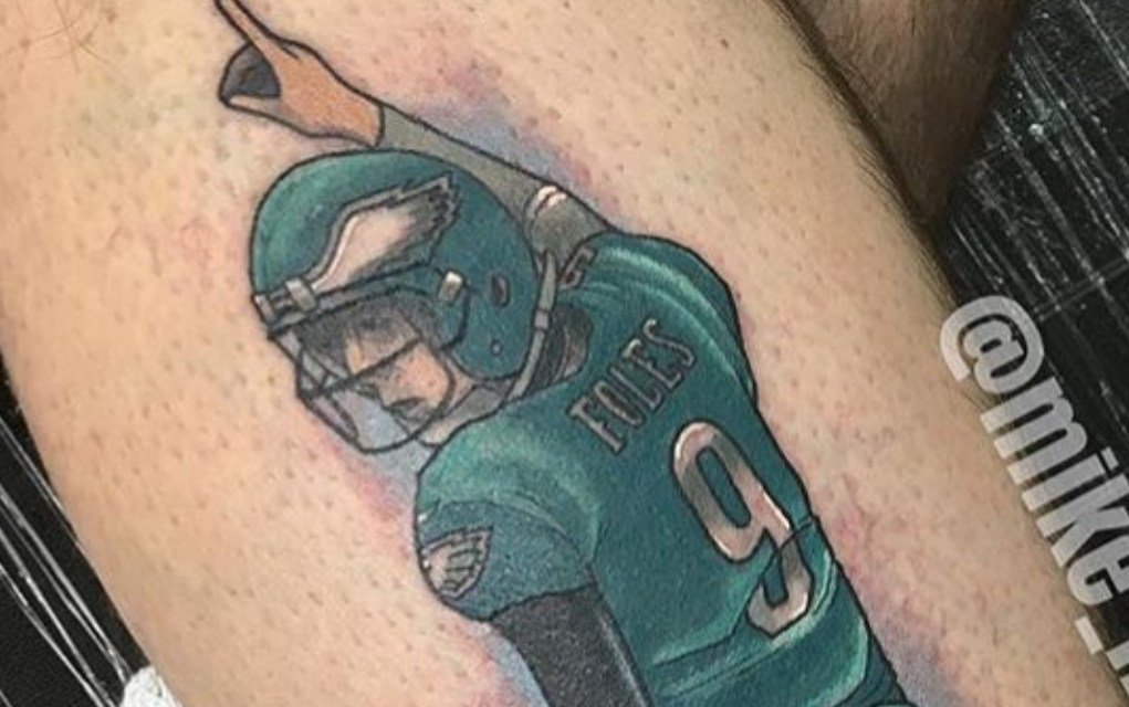 A Pantless Tattoo of Nick Foles Has Gone Viral