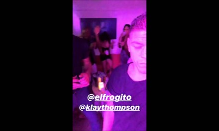 Klay Thompson Partying at Drais Beachclub Nightclub