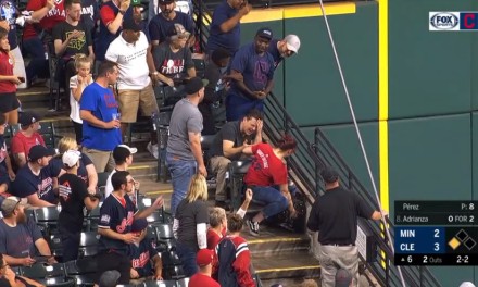 Indians Fan Took a Foul Ball Off the Forehead