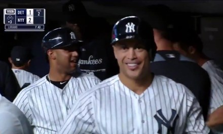 Giancarlo Stanton Earns His First Curtain Call as a Yankee after Hitting his 300th Career Home Run