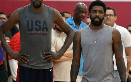 Kyrie Irving and Kevin Durant Working Out Together