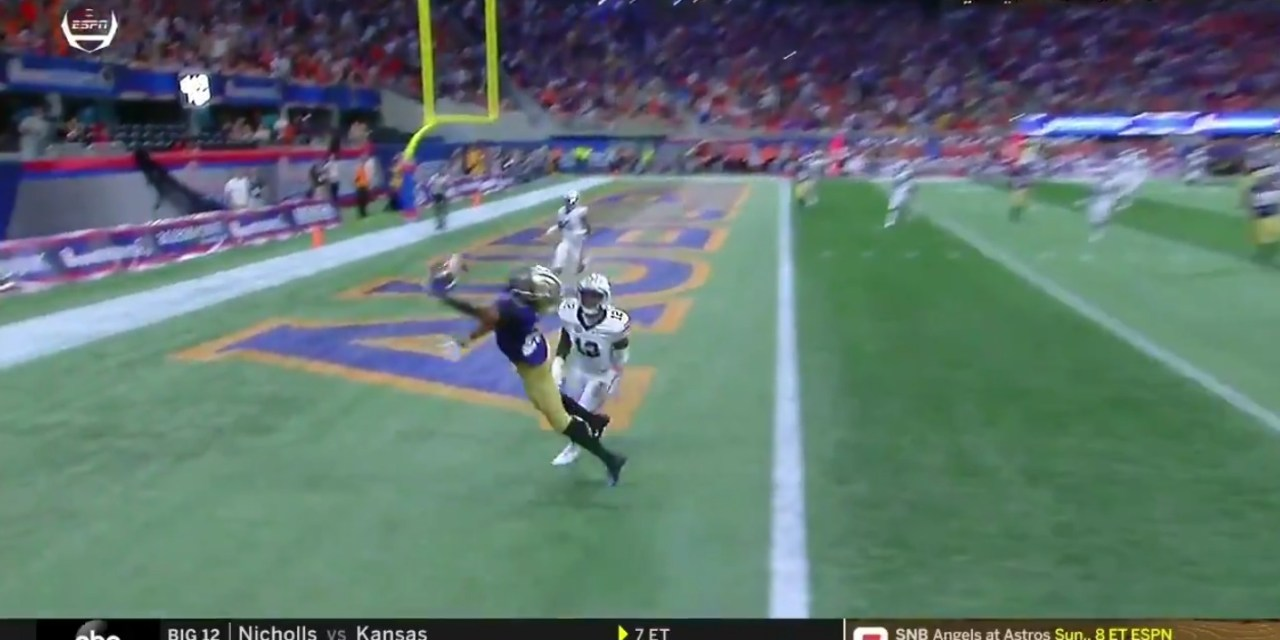 Washington's Quentin Pounds Made an Insane One Handed Catch for a Touchdown