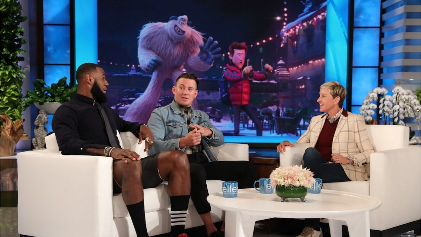 a8fc7dfd1172 LeBron Teams up with Channing Tatum for Ridiculous Dares on The Ellen Show