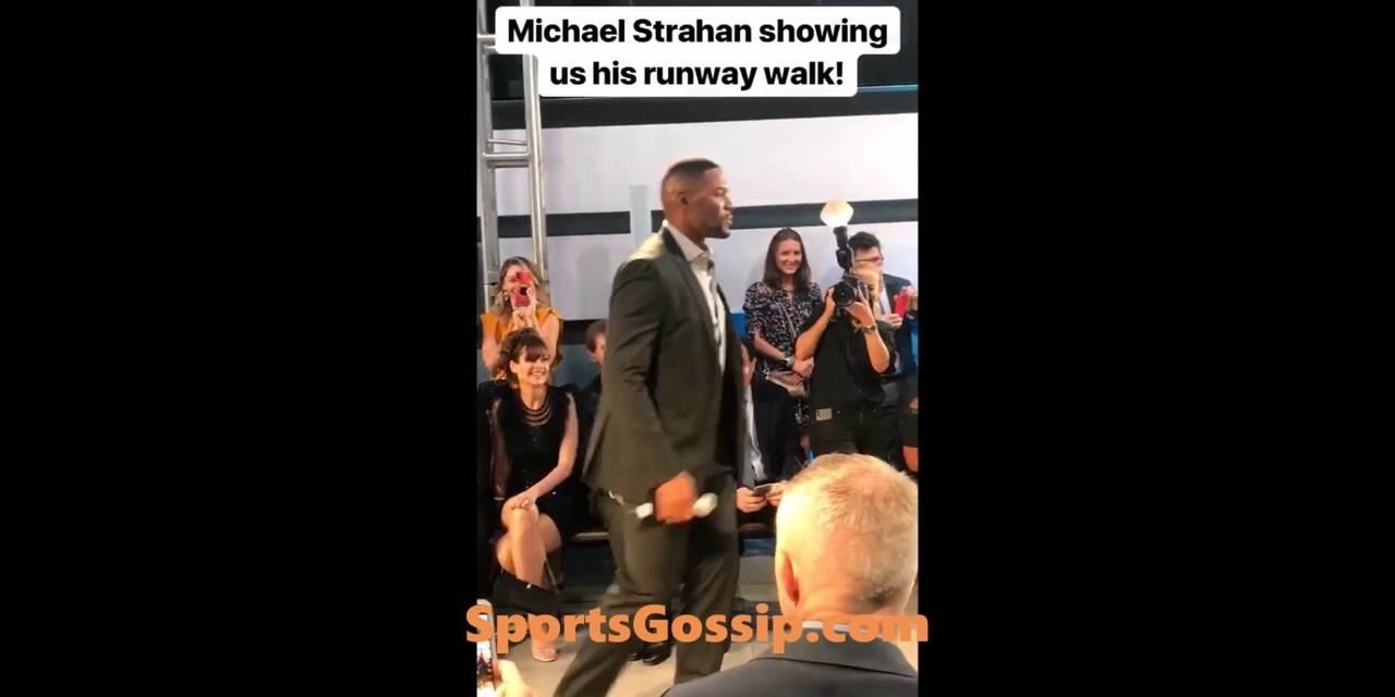 Michael Strahan Walks the Runway at Fashion Show