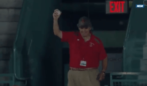 Fenway Usher Casually Snags Foul Ball One Handed