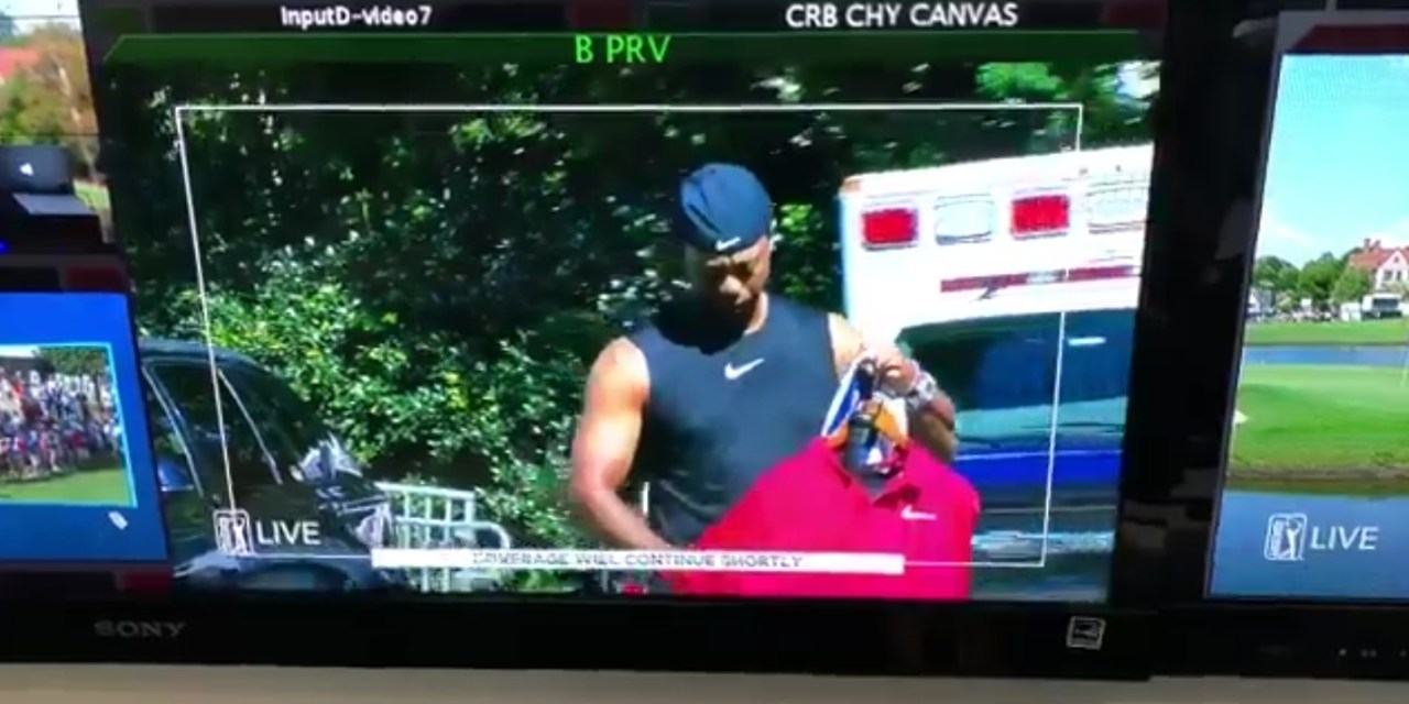 Tiger Woods Made an Incredible Arrival on Sunday