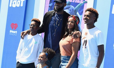 LeBron James and Family Hit up the Smallfoot Premiere