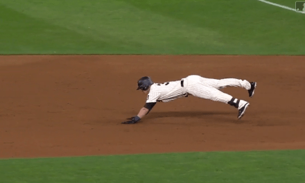 Tyler Austin Fell on His Face After Getting Tripped Up Rounding First Base on a Home Run