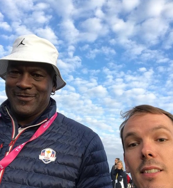 Michael Jordan Back at Ryder Cup to Cheer Team USA