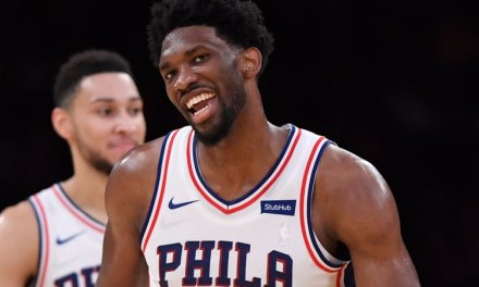 Joel Embiid Sings Along at Ed Sheeran's Philly Concert