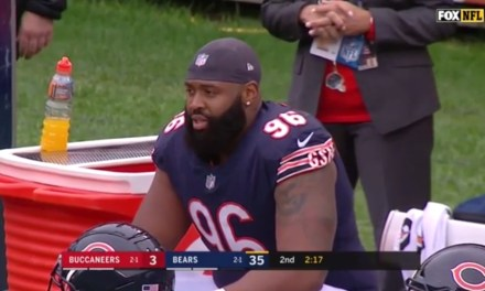 Bears Defensive Tackle Akiem Hicks was Ejected for Shoving an Official